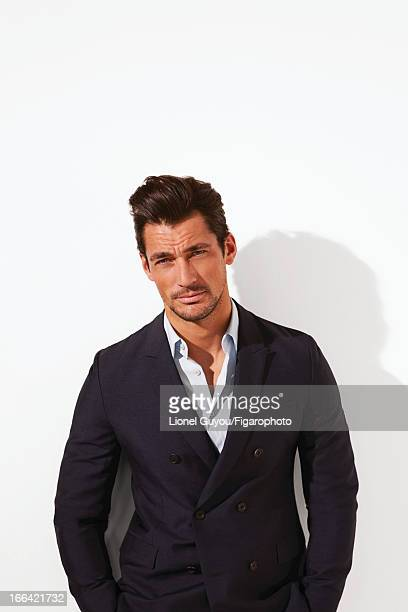 Figaro ID 105950005 Model David Gandy poses for Madame Figaro on February 28 2013 in London England Jacket and shirt COVER IMAGE CREDIT MUST READ...