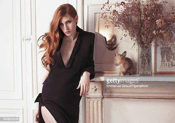 Figaro ID 105982005 Actress Agathe Bonitzer is photographed for Madame Figaro on February 1 2013 in Paris France PUBLISHED IMAGE Dress CREDIT MUST...