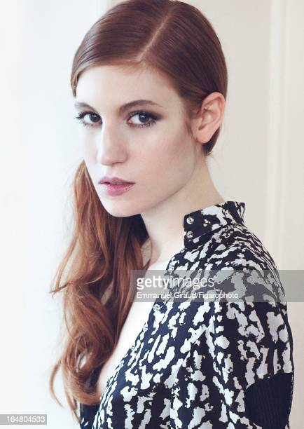 Figaro ID 105982007 Actress Agathe Bonitzer is photographed for Madame Figaro on February 1 2013 in Paris France PUBLISHED IMAGE Shirt CREDIT MUST...