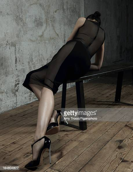 Figaro ID 106050009 Model Laetitia Casta poses for Madame Figaro on February 13 2013 in Paris France PUBLISHED IMAGE Dress shoes Makeup by L'Oreal...