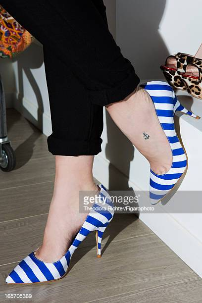Figaro ID 106091006 TV host Daphne Burki is photographed for Madame Figaro on February 19 2013 in Paris France Pants shoes PUBLISHED IMAGE CREDIT...
