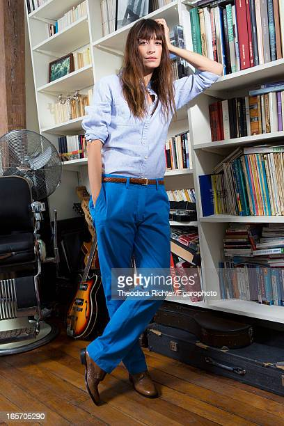 Figaro ID 106091014 Model Caroline de Maigret is photographed for Madame Figaro on February 13 2013 in Paris France Shirt pants belt necklace shoes...