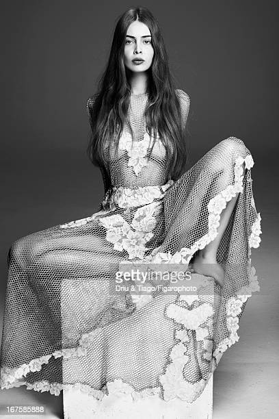 Figaro ID 106204005 Model Marie Ange Casta poses for Madame Figaro on February 27 2013 in Paris France Dress Makeup by Dior PUBLISHED IMAGE CREDIT...
