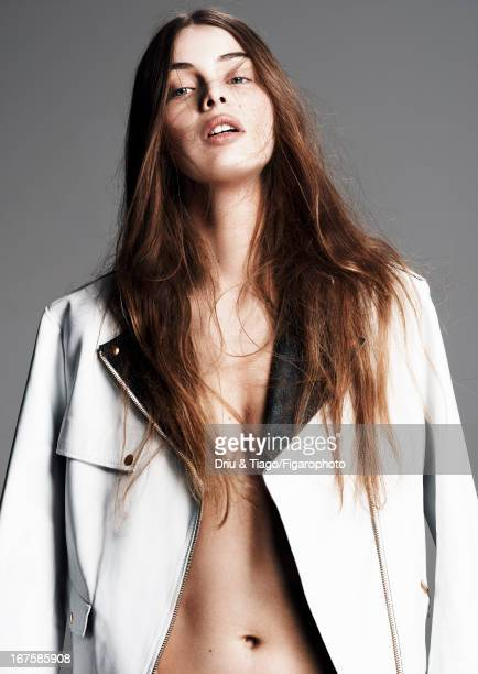 Figaro ID 106204010 Model Marie Ange Casta poses for Madame Figaro on February 27 2013 in Paris France Jacket Makeup by Dior PUBLISHED IMAGE CREDIT...