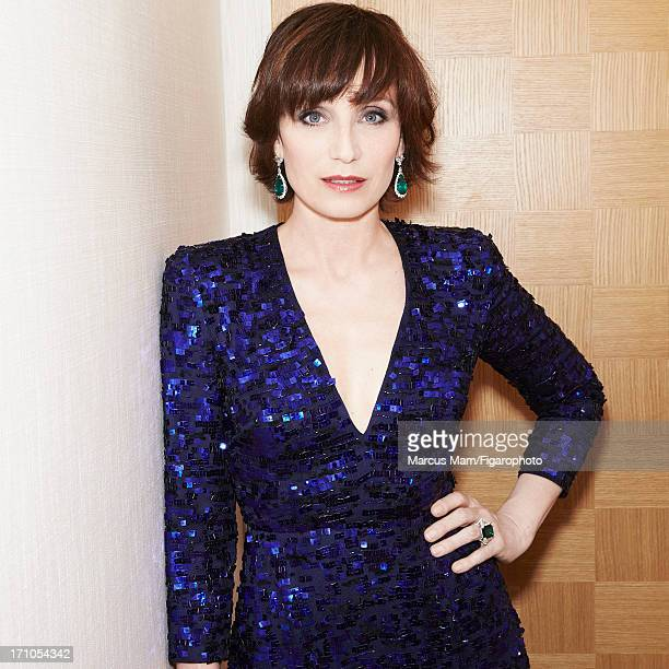 Figaro ID 106430018 Actress Kristin Scott Thomas is photographed for Madame Figaro on May 18 2013 at the Cannes Film Festival in Cannes France Dress...
