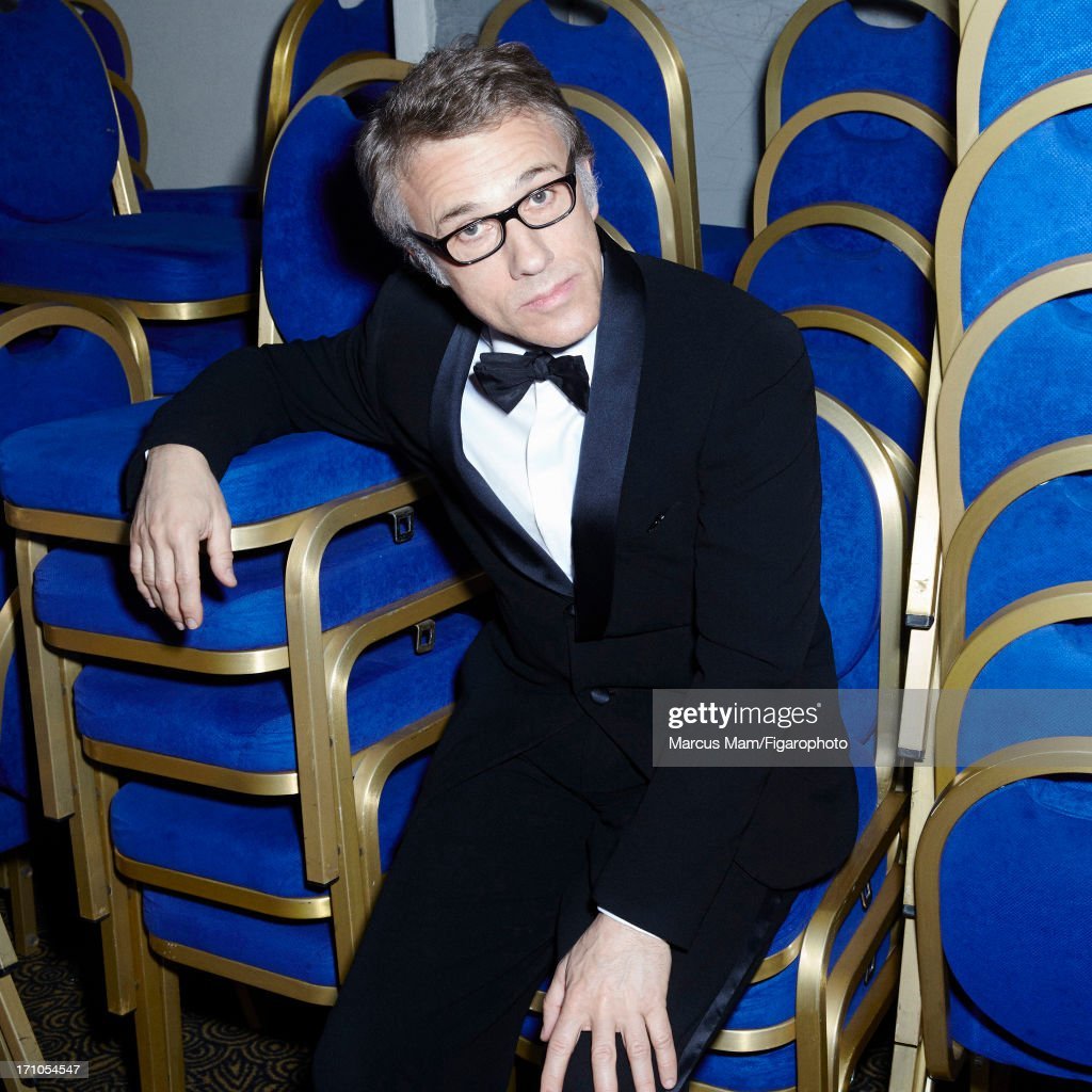 106430-023. Actor Christoph Waltz is photographed for Madame Figaro on May 21, 2013 at the Cannes Film Festival in Cannes, France. PUBLISHED IMAGE.