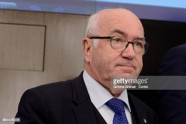 Figc Chairman Carlo Tavecchio attends the Presentation of the Football Program ' Il Calcio Aiuta' on May 18 2017 in Rome Italy The presentation was...