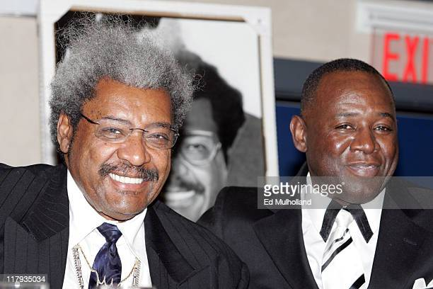 Fight promoter Don King with COMBATT founder Larry Hazzard is honored at the Community Organization Making Boxing Alternatives Today for Tomorrow...