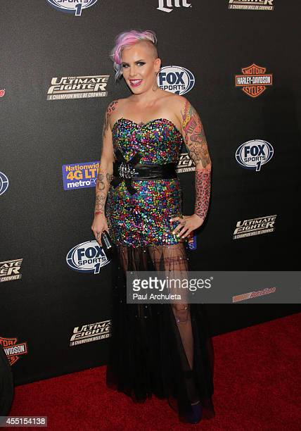 Fighter Bec Rawlings attends FOX Sports 1's 'The Ultimate Fighter' season premiere party at Lure on September 9 2014 in Hollywood California
