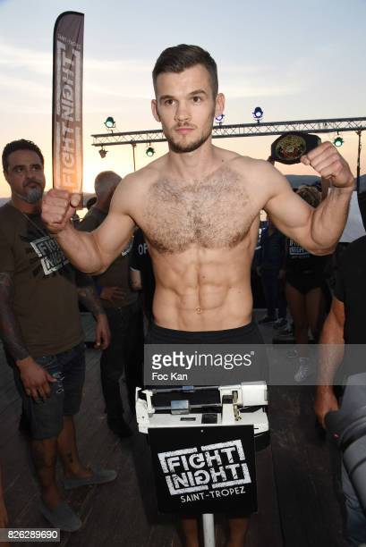 Fighter champion Yohan Lindon attends the Fight Night Weighing Party at La Bouillabaisse Saint Tropez on August 3 2017 in SaintTropez France