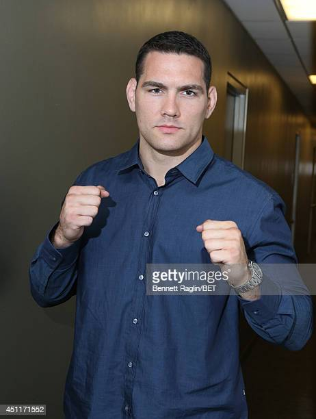 UFC fighter Chris Weidman visits 106 Park at BET studio on June 23 2014 in New York City