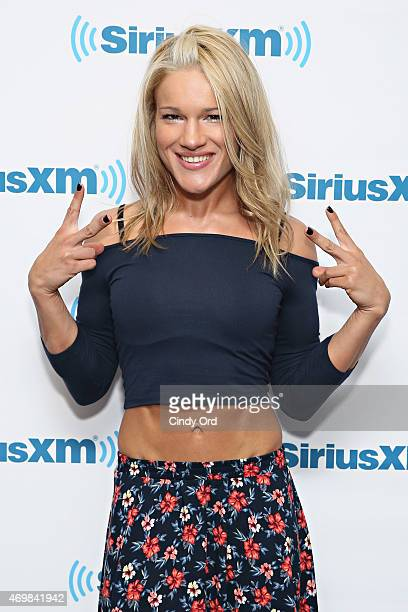 UFC/ MMA fighter Felice Herrig visits the SiriusXM Studios on April 15 2015 in New York City