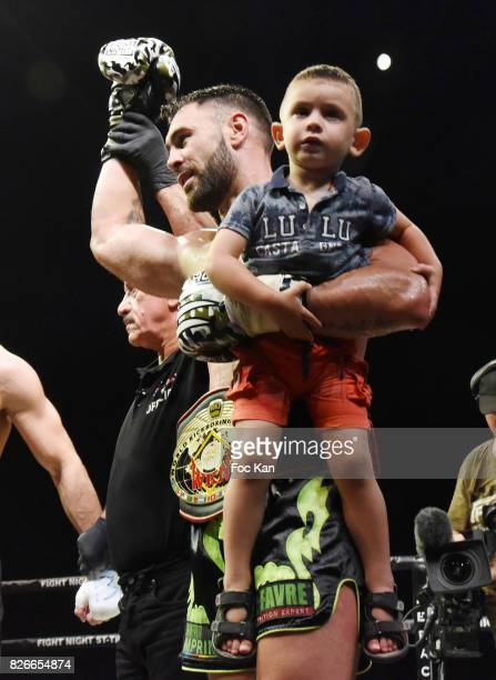 Fighter french champion winner Yohan Lindon performs during the Fight Night Gala at La Citadelle de Saint Tropez on August 4 2017 in SaintTropez...