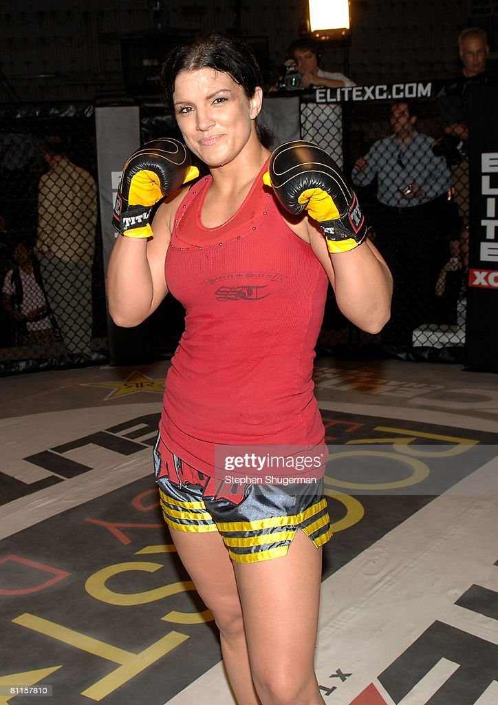 MMA fighter Gina Carano attends CBS's 'Elite XC Saturday Night Fights' Press Conference at CBS Radford Studios on May 19, 2008 in Studio City, California.