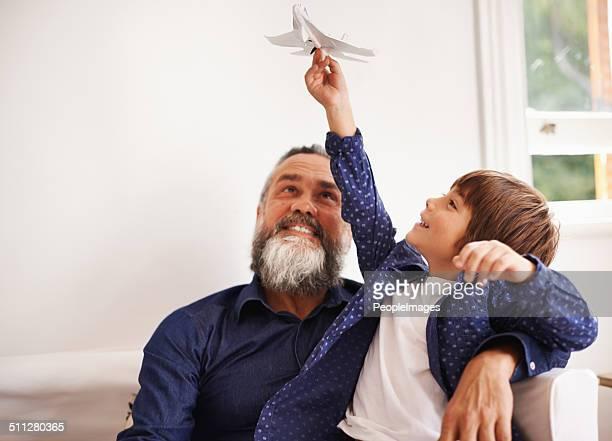 Fighter jet fun with grandpa