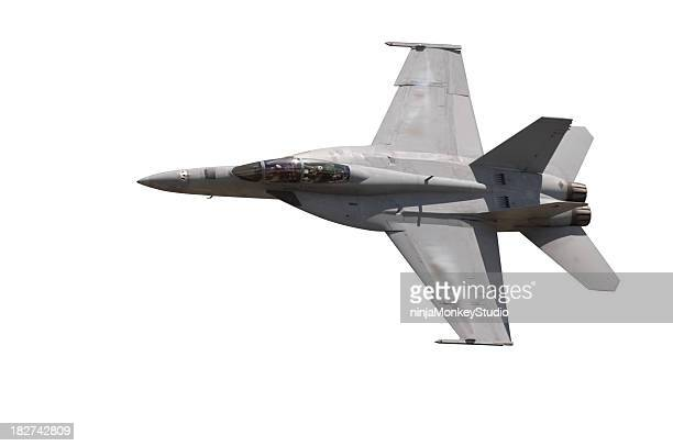 F-18 Fighter Jet Isolate on White