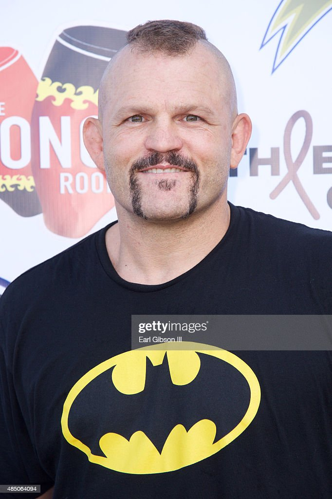 Fighter Liddell Chuck attends the Athletes Vs Cancer Celebrity Flag Football Game at UCLA's Drake Stadium on August 23 2015 in Westwood California