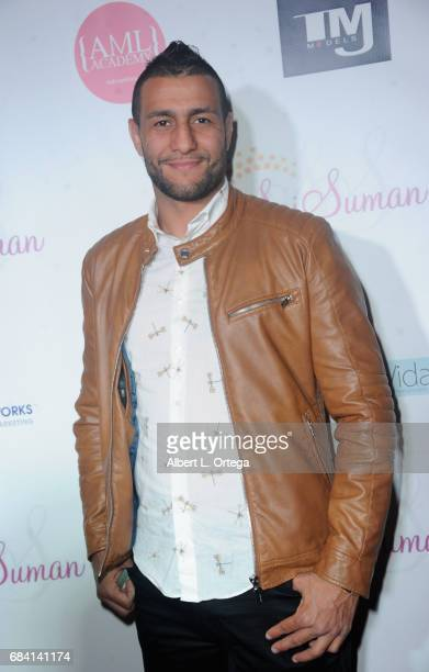 Fighter Mehdi Baghdad at Sai Suman's Official Hollywood Runway Fashion Show held at Sofitel Hotel on April 11 2017 in Los Angeles California