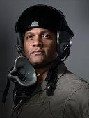fighter pilot portrait, close-up
