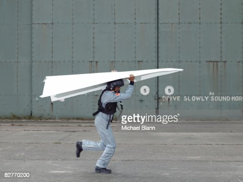 fighter pilot testing plane : Stock Photo