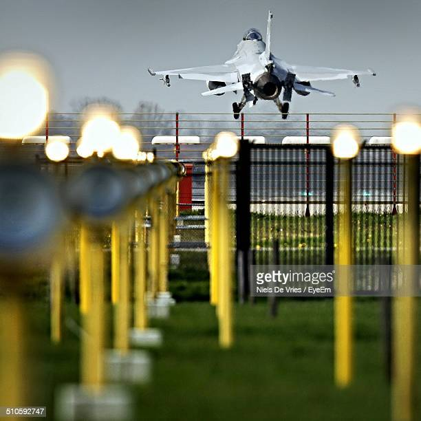Fighter plane taking off