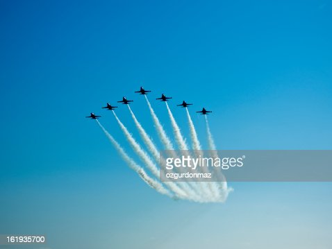 Fighter planes in airshow