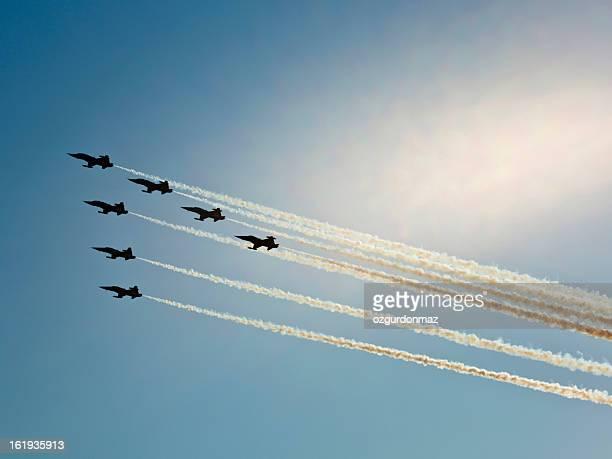 Kämpfer Flugzeuge in airshow
