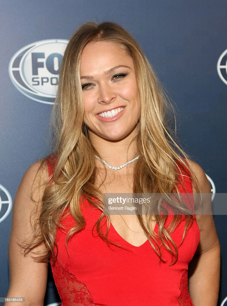 UFC fighter <a gi-track='captionPersonalityLinkClicked' href=/galleries/search?phrase=Ronda+Rousey&family=editorial&specificpeople=3009906 ng-click='$event.stopPropagation()'>Ronda Rousey</a> attends the 2013 Fox Sports Media Group Upfront after party at Roseland Ballroom on March 5, 2013 in New York City.