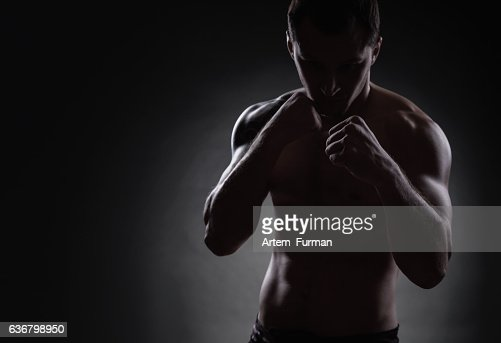 Fighter silhouette : Stock Photo