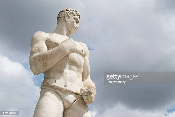 Fighter Statue with Thick Belt