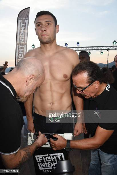 Fighter StephaneÊ Susperregui attends the Fight Night Weighing Party at La Bouillabaisse Saint Tropez on August 3 2017 in SaintTropez France