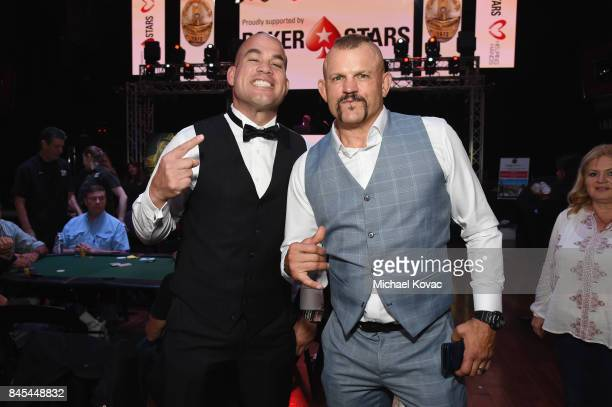 MMA fighter Tito Ortiz and former UFC fighter Chuck Liddell at the Heroes for Heroes Los Angeles Police Memorial Foundation Celebrity Poker...