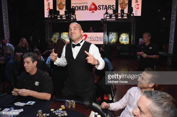 MMA fighter Tito Ortiz at the Heroes for Heroes Los Angeles Police Memorial Foundation Celebrity Poker Tournament at Avalon on September 10 2017 in...