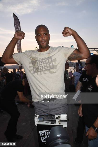 Fighter Tony Gregory attends the Fight Night Weighing Party at La Bouillabaisse Saint Tropez on August 3 2017 in SaintTropez France