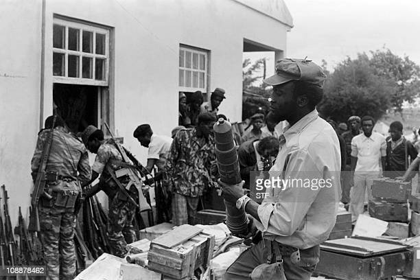 fighters arrange weapons in the military training camp of Capolo south of Silva Porto on January 28 1976 After independence Angola was the scene of...