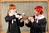 Fighting for a teddybear
