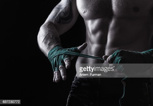 Fighting preparation : Stock Photo