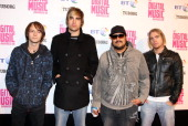 Fightstar Arrives At The Bt Digital Music Awards 2008 At The Roundhouse London