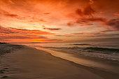 Sunrise on Figueira beach - Arraial do Cabo - State of Rio de Janeiro, Brazil.