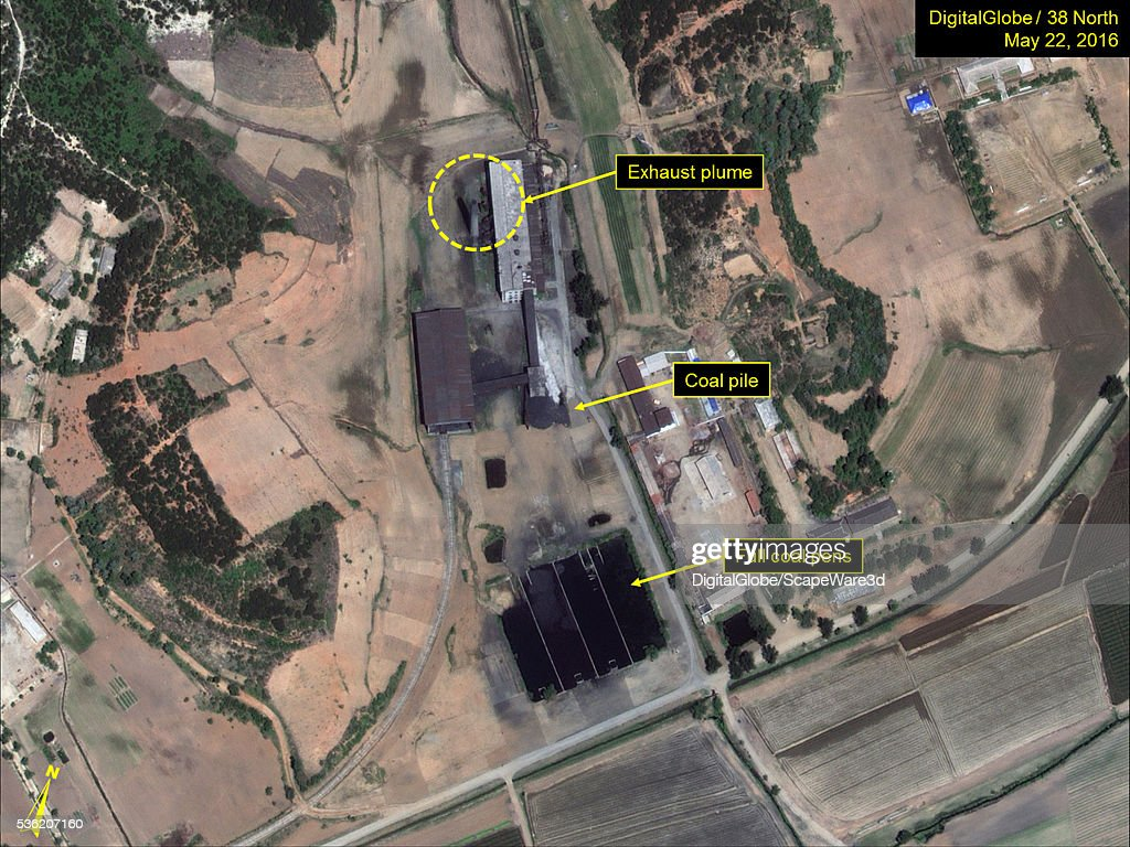 Figure 1 Exhaust plumes seen at Yongbyons Radiochemical Laboratorys Thermal Plant Date May 22 2016 Mandatory credit for all images DigitalGlobe/38...