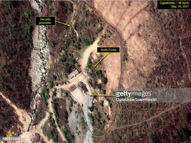 KOREA MAY 18 2017 Figure 1 Minimal activity at the North Portal of Punggyeri Nuclear Test Site