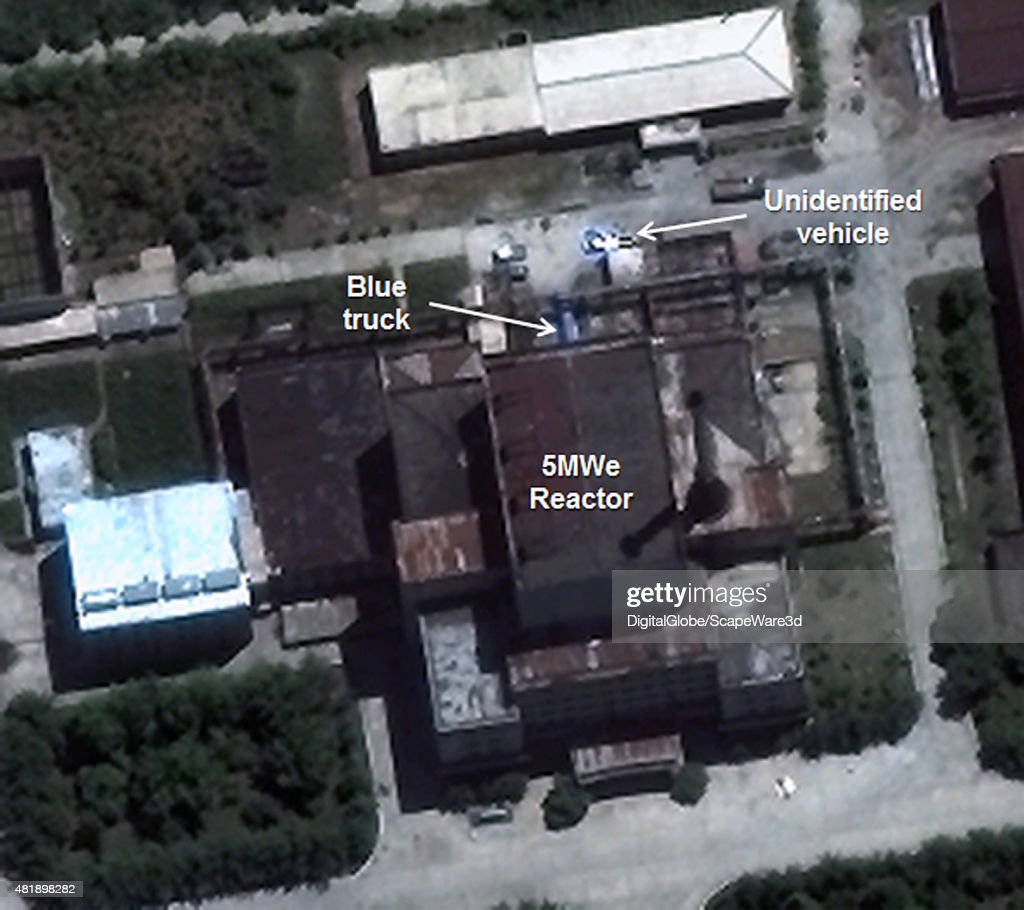 Figure 1 Vehicles at the 5 MWe Reactor Date July 2 2015 Yongbyon Nuclear Scientific Research Center Mandatory credit Image © 2015 DigitalGlobe Inc/38...