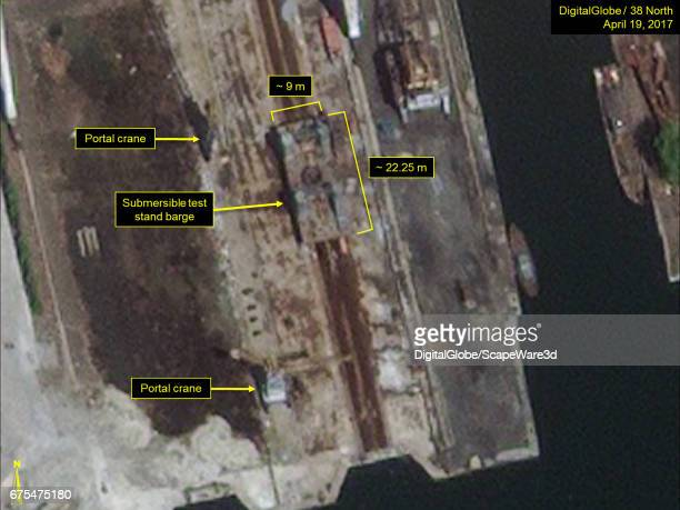 Figure 2 A second submersible test stand barge seen on same day at the Nampo Naval Shipyard Date April 19 2017 Mandatory credit for all images...