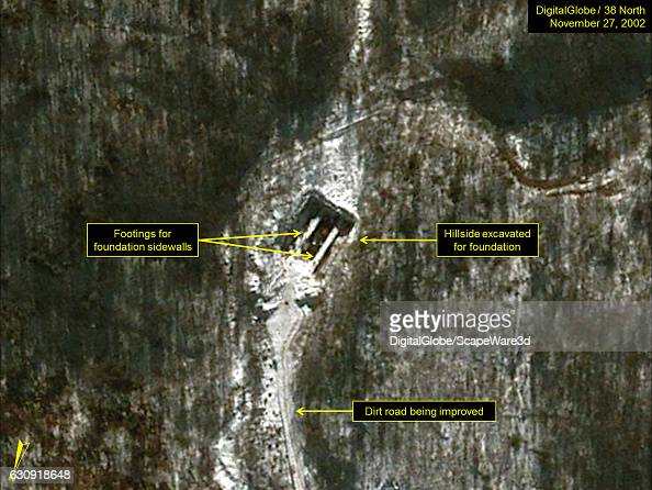 Figure 2 DigitalGlobe imagery of the construction of the Pumyongdong installation on November 27 2002 Mandatory credit for all images DigitalGlobe/38...