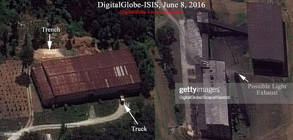 Figure 2 DigitalGlobe imagery showing Building 500 and the coal fired steam generation plant on June 8 2016 Mandatory credit for all images...