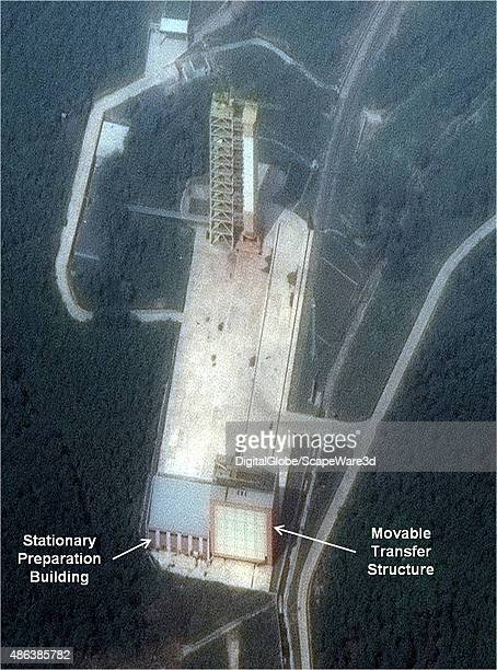 Figure 2 Movable Transfer Structure next to Stationary Preparation Building at the Sohae Launch Pad Date September 1 2015 Mandatory image credit to...