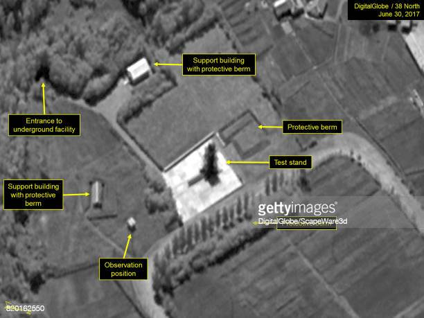 Figure 2 No new activity observed at the test stand at Sinpo Mandatory credit for all images DigitalGlobe/38 North via Getty Images