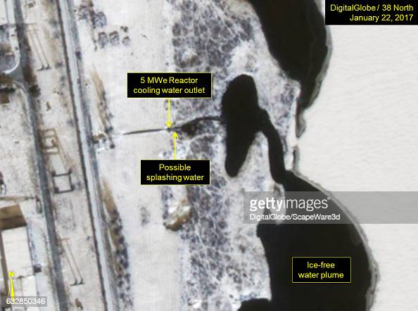 Figure 3 Closeup of 5MWe cooling water outlet and icefree plume Date January 22 2017 Mandatory credit for all images DigitalGlobe/38 North via Getty...