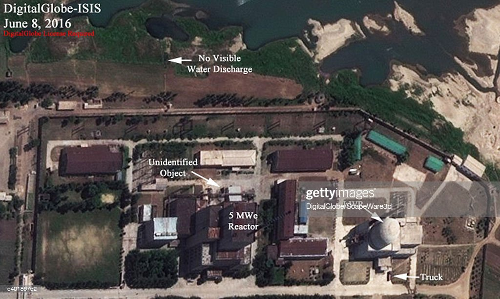 Figure 3 DigitalGlobe imagery showing North Koreas 5 MWe and LWR reactors on June 8 2016 Mandatory credit for all images DigitalGlobe/Institute for...