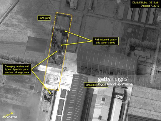 Figure 3 Movement of parts observed near the construction halls Mandatory credit for all images DigitalGlobe/38 North via Getty Images